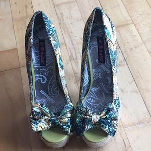 Dollhouse heels butterfly design